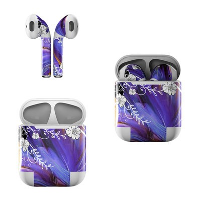 Apple Air Pods Skin - Purple Waves