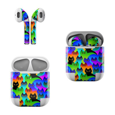 Apple AirPods Skin - Rainbow Cats
