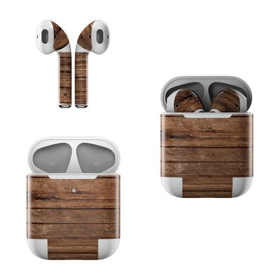 Apple AirPods Skin - Stripped Wood