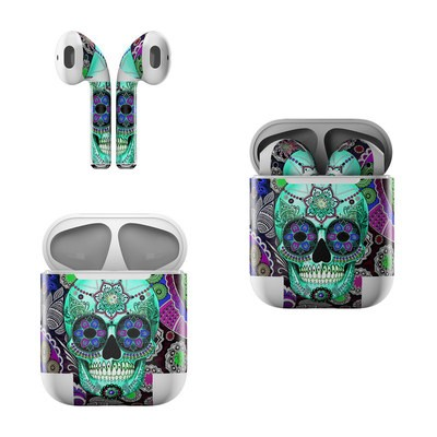 Apple AirPods Skin - Sugar Skull Sombrero