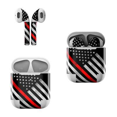 Apple Air Pods Skin - Thin Red Line Hero