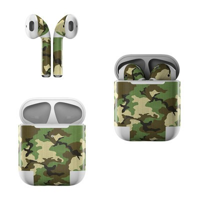Apple AirPods Skin - Woodland Camo