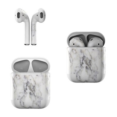 Apple AirPods Skin - White Marble