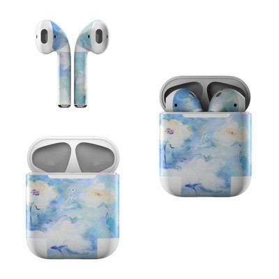 Apple Air Pods Skin - White & Blue