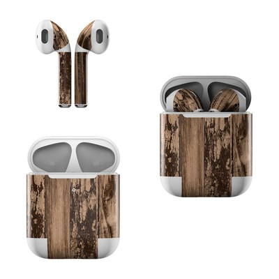 Apple AirPods Skin - Weathered Wood