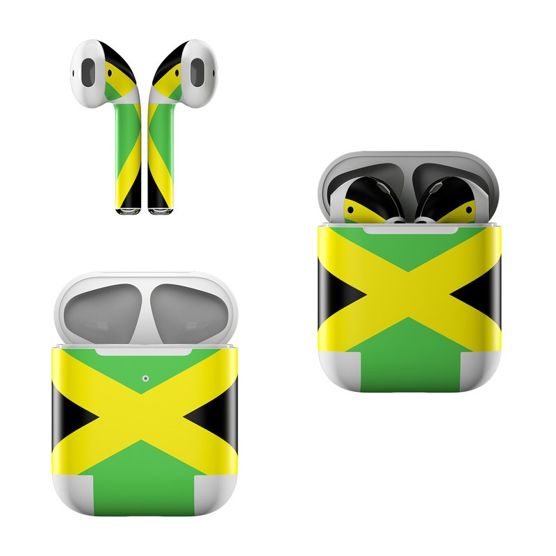 56504c56df7 Apple AirPods Skin - Jamaican Flag by Flags | DecalGirl