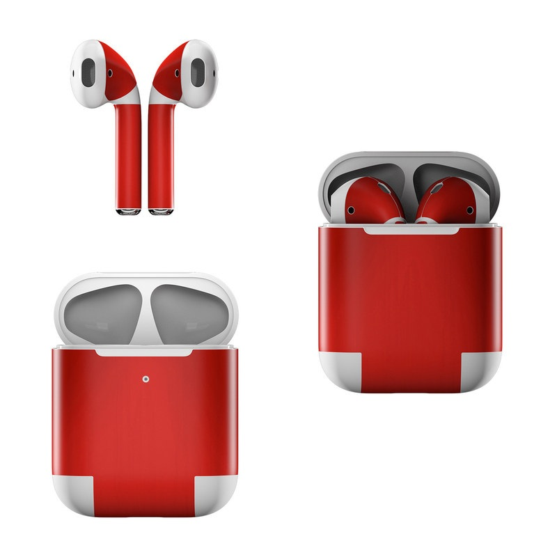 1ba1349e726 Apple AirPods Skin - Red Burst | DecalGirl