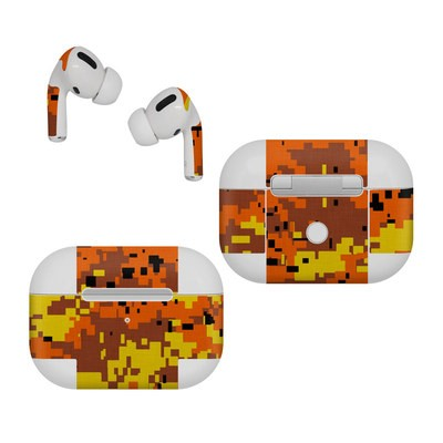 Apple AirPods Pro Skin - Digital Orange Camo
