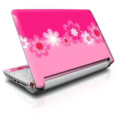 Aspire ONE Skin - Retro Pink Flowers
