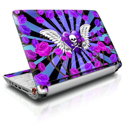 Aspire ONE Skin - Skull & Roses Purple