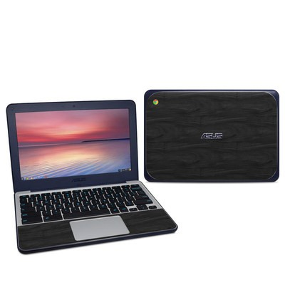 Asus Chromebook C202S Skin - Black Woodgrain