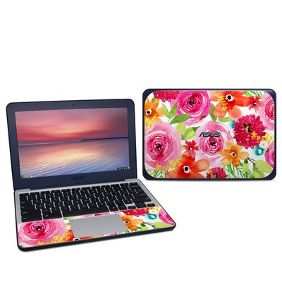 Asus Chromebook C202S Skin - Floral Pop