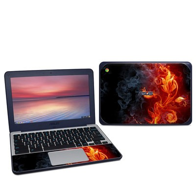 Asus Chromebook C202S Skin - Flower Of Fire