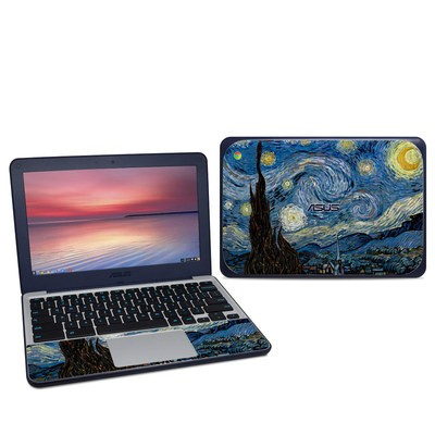 Asus Chromebook C202S Skin - Starry Night
