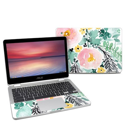 Asus Chromebook C302 Skin - Blushed Flowers