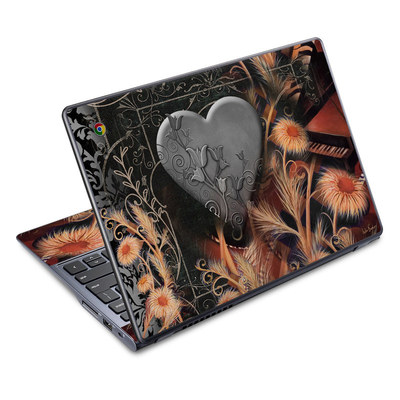 Acer Chromebook C720 Skin - Black Lace Flower