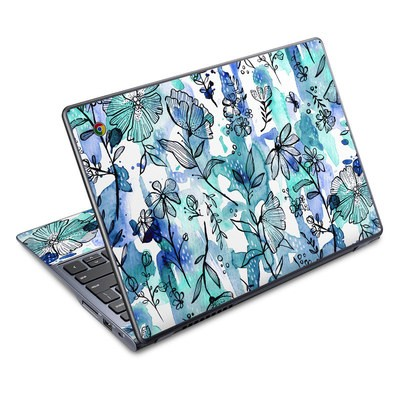 Acer Chromebook C720 Skin - Blue Ink Floral