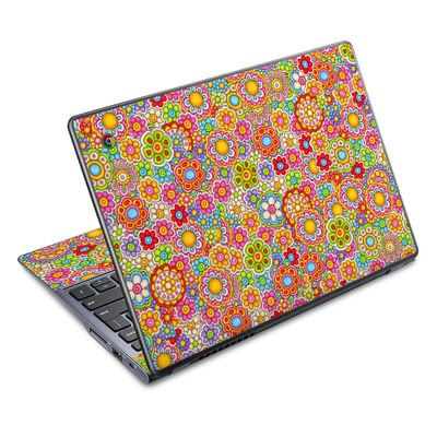 Acer Chromebook C720 Skin - Bright Ditzy