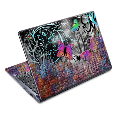 Acer Chromebook C720 Skin - Butterfly Wall