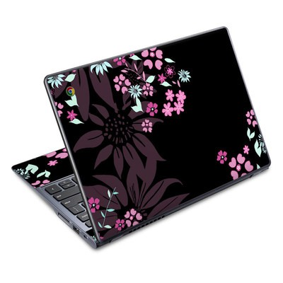 Acer Chromebook C720 Skin - Dark Flowers