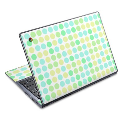 Acer Chromebook C720 Skin - Big Dots Mint