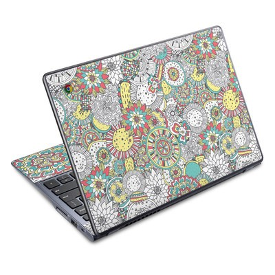 Acer Chromebook C720 Skin - Faded Floral