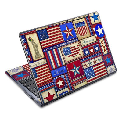 Acer Chromebook C720 Skin - Flag Patchwork