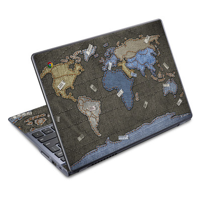 Acer Chromebook C720 Skin - Jean Map