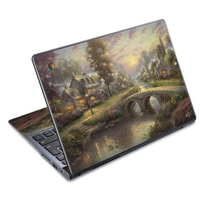Acer Chromebook C720 Skin - Sunset On Lamplight Lane