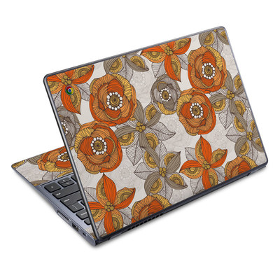 Acer Chromebook C720 Skin - Orange and Grey Flowers