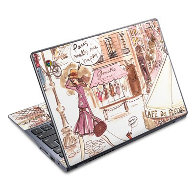 Acer Chromebook C720 Skin - Paris Makes Me Happy