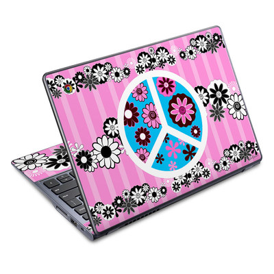 Acer Chromebook C720 Skin - Peace Flowers Pink