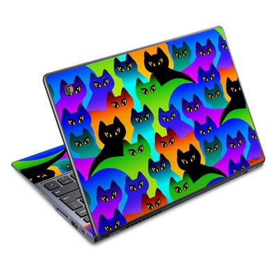 Acer Chromebook C720 Skin - Rainbow Cats