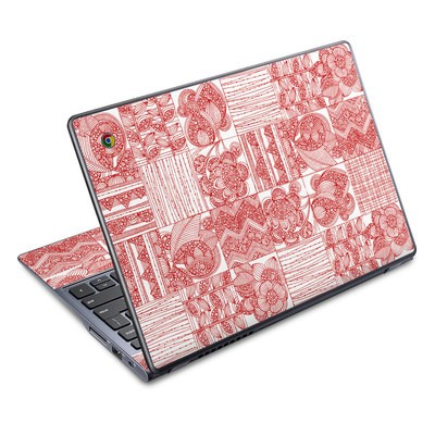 Acer Chromebook C720 Skin - Red Quilt