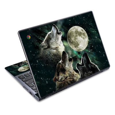 Acer Chromebook C720 Skin - Three Wolf Moon