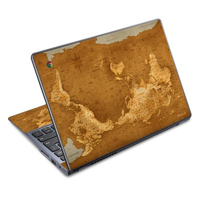 Acer Chromebook C720 Skin - Upside Down Map