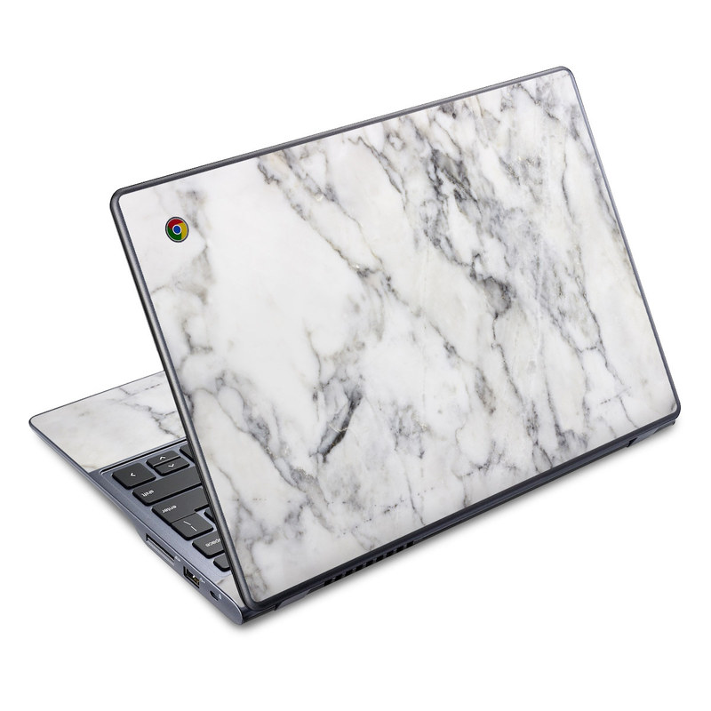 acer chromebook c720 skin white marble by marble collection
