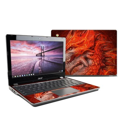Acer Chromebook C740 Skin - Flame Dragon