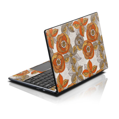 Acer AC700 ChromeBook Skin - Orange and Grey Flowers