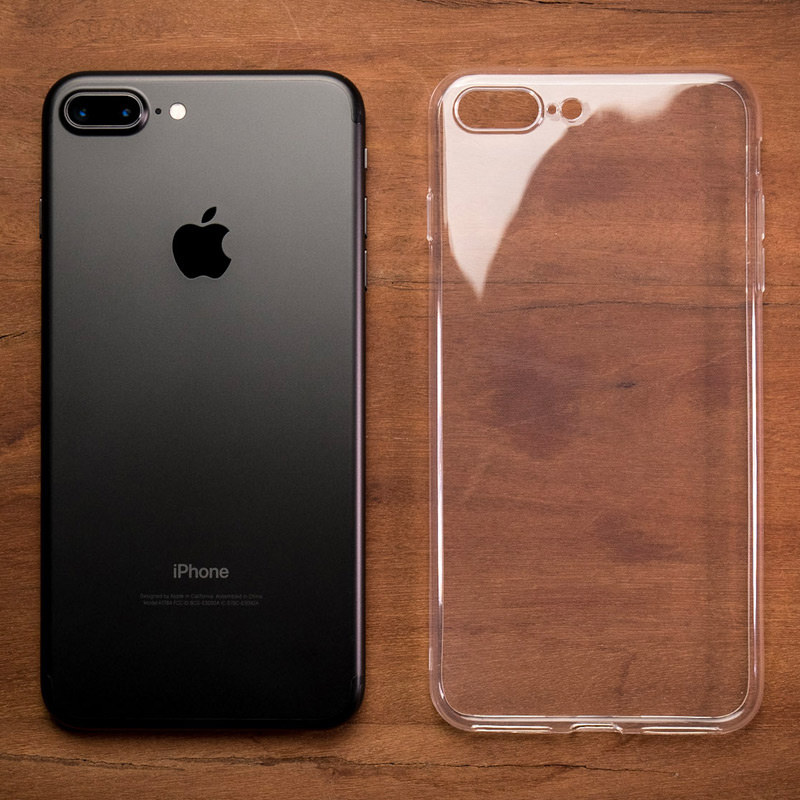 best service 2ea2b 3d0f3 Ultra Thin Transparent Gel Case - Apple iPhone 8 Plus (5.5in)
