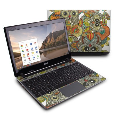 Acer Chromebook C7 Skin - 4 owls