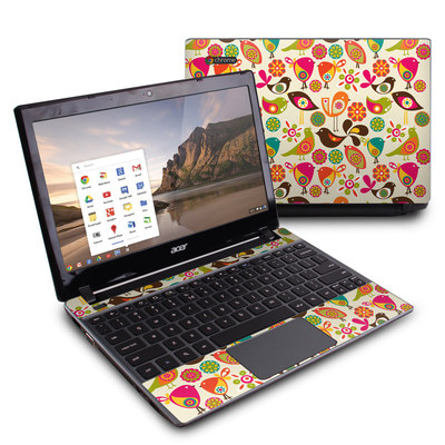 Acer Chromebook C7 Skin - Bird Flowers