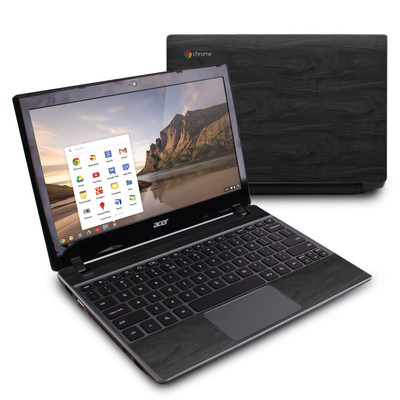 Acer Chromebook C7 Skin - Black Woodgrain