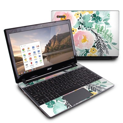 Acer Chromebook C7 Skin - Blushed Flowers