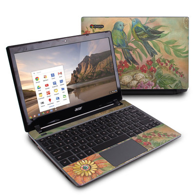 Acer Chromebook C7 Skin - Splendid Botanical
