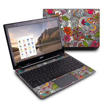 Acer Chromebook C7 Skin - Doodles Color