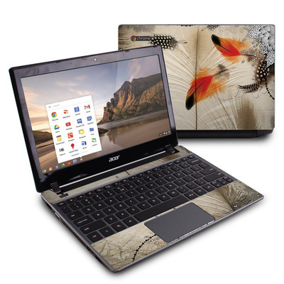 Acer Chromebook C7 Skin - Feather Dance