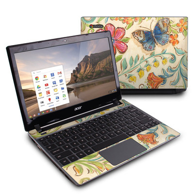 Acer Chromebook C7 Skin - Garden Scroll