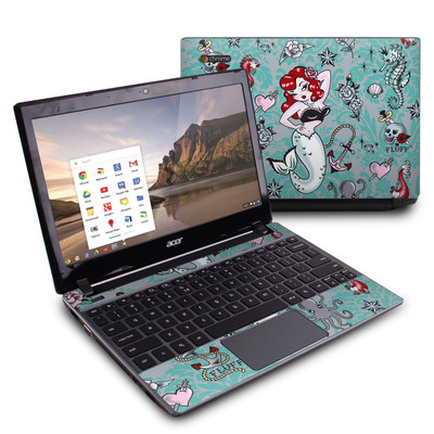 Acer Chromebook C7 Skin - Molly Mermaid