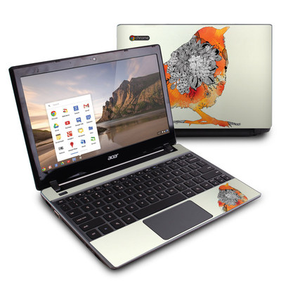 Acer Chromebook C7 Skin - Orange Bird